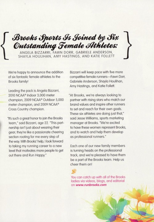 B Inspired Magazine for Brooks: Female Athletes 2